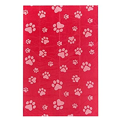 Best Pet Supplies Dog Poop Bags for Waste Refuse Cleanup, Doggy Roll Replacements for Outdoor Puppy Walking and Travel, Leak Proof and Tear Resistant, Thick Plastic - Red, 150 Bags (RD-150B) 3