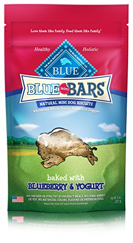 Blue Buffalo Blue Mini Bar Blueberry and Yogurt Food, 8 oz.