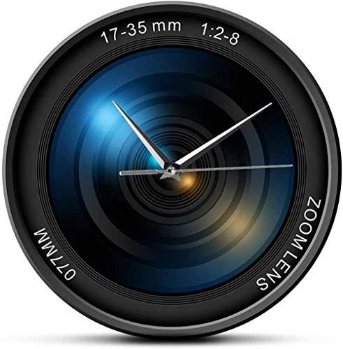 suwhao Camera Lens Wandklok Afbeeldingen Zoom Kleur Foto Iso Blootstelling Snap Selfie Decoratieve Moderne Wandklok 30X30Cm