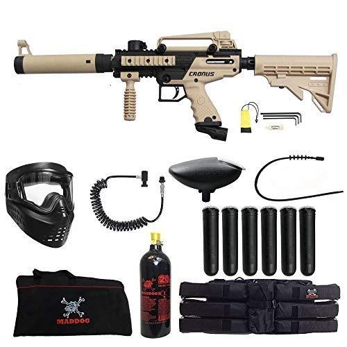 Maddog Tippmann Cronus Tactical Corporal Paintball Gun Package - Black/Tan