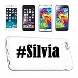 Reifen-Markt Hard Cover - Funda para teléfono móvil Compatible con Huawei P9 Hashtag #Silvia en Red Social Diseño