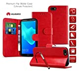 MobiBax Huawei Ascend Y635 Cover, Premium Leather Case Flip