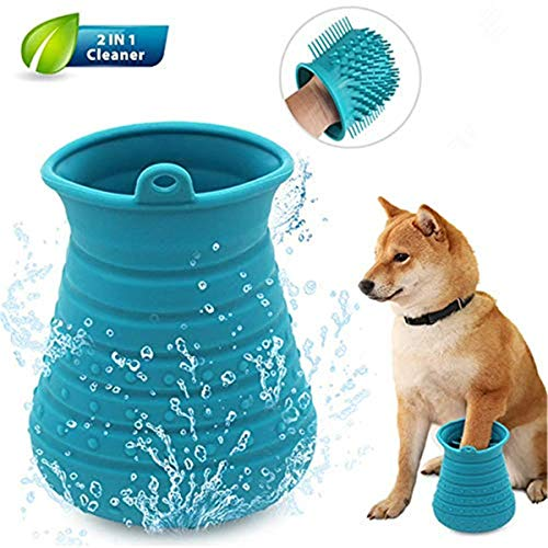 Sweenaly Portable Dog Paw Washer Essential Dog Cleaning Supplies (Blue)
