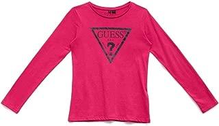 GUESS Girls' Big Long Sleeve Core Triangle T-Shirt
