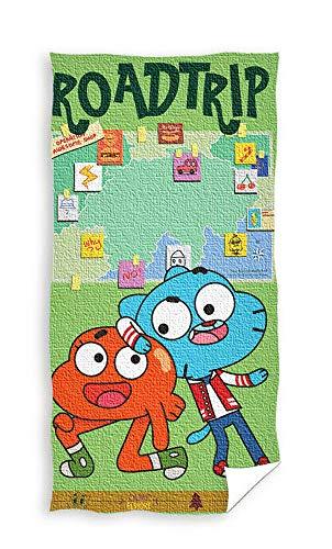 Gumball The Amazing World of GUM181001 - Asciugamano da bagno, 70 x 140 cm