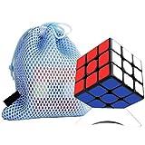 Italia RedStar Cubo con Borsa Air Speed Cube 3x3 (Nero) Professionale Ultima Generazione Veloce Materiale Durevole Non Tossico Gioco per Allenamento Mentale per Adulti e Ragazzi
