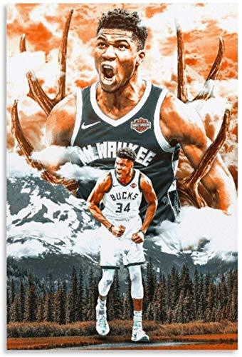 Puzzle 200 Piezas Adultos Niños Rompecabezas Jugador de baloncesto Giannis Antetokounmpo 15 13.7x9.8inch(35x25cm) Sin Marco