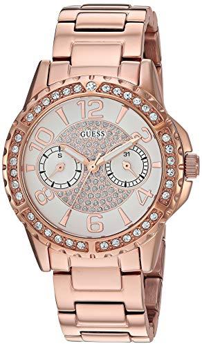 Guess W0705L3 Reloj analógico de cuarzo para mujer con correa de acero inoxidable