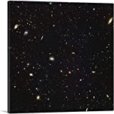 ARTCANVAS NASA Hubble Telescope View of Deep Space Thousands of Galaxies Canvas Art Print - 36' x...
