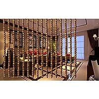 CHAXIA ビーズカーテン 廊下 エントランス 仕切りカーテン 無垢材 暗号化 ドアカーテン 家の装飾 吊り下げカーテン、 カスタマイズ可能 (Color : B, Size : 90x240cm)