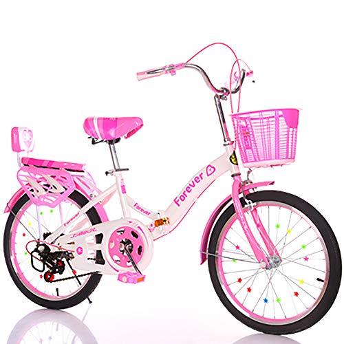 FXD Bici da Ragazza Bicicletta per Bambini di 8-14 Anni Bici da 20 Pollici Telaio più Spesso, Sicuro E Stabile (velocità Variabile)