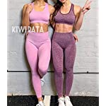 Fashion Shopping KIWI RATA Women's High Waist Workout Compression Seamless Fitness Yoga Leggings