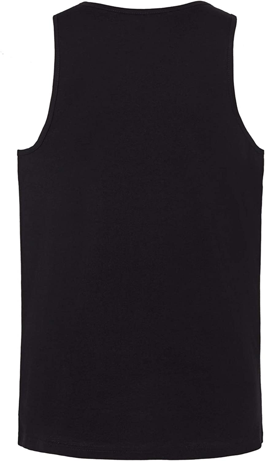 JC DISTRO Mens Slim Fit Basic Solid Tank Top Jersey Casual Shirts