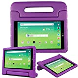 Bolete Kids Case for LG G Pad X 8.0, Shock Proof Light Weight Protective Convertible Handle Case for LG G Pad X 8.0, AT&T V520 / T-Mobile LG V521 Tablet Case,Purple