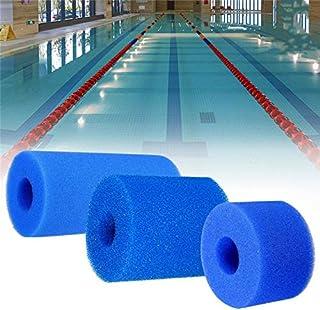 السباحة 2 الأحجام حمام السباحة فلتر رغوة قابلة لإعادة الاستخدام قابل للغسل الاسفنج لخرطوشة H S1 نوع رغوة مناسبة فقاعة جت ن...