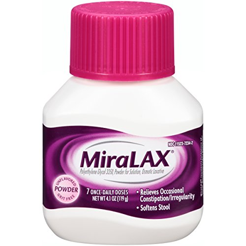 MiraLAX, Unflavored/Grit Free Laxative Powder, 4.1 Ounces, 7 Doses