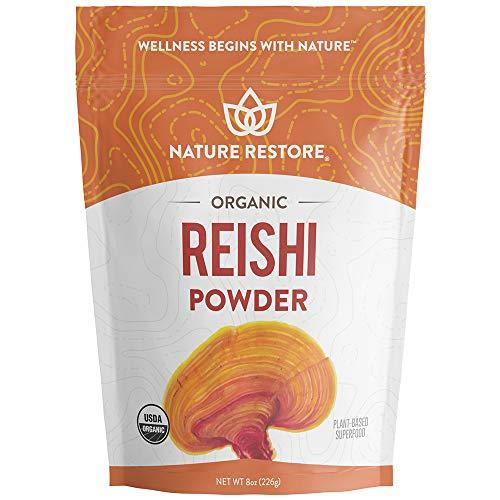 USDA Certified Organic Red Reishi Mushroom Powder, 8 Ounces, Non GMO, Gluten Free, Packaged in California, Ganoderma Lucidum / Lingzhi