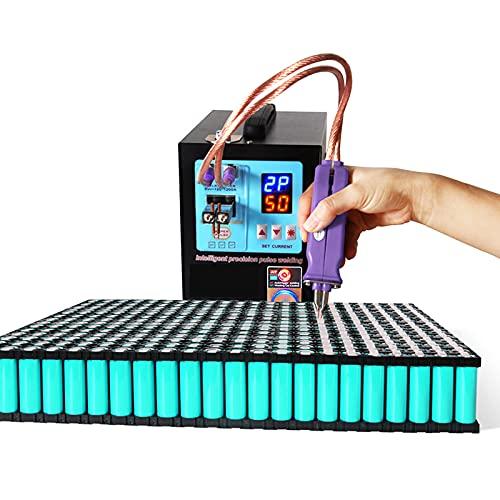 FRIBLSKEL 4.3KW Soldador Puntos Batería Automática Maquina Soldadura Puntos Pulso Profesional con Pantalla Digital LED/Sensor Inteligente Modo Control Manual/Pedal Soldadora