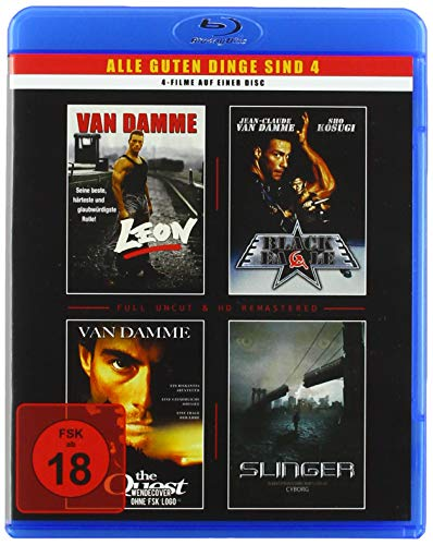 van Damme - 4 Filme - 1 Blu-Ray (Leon - Black Eagle - The Quest - Slinger)