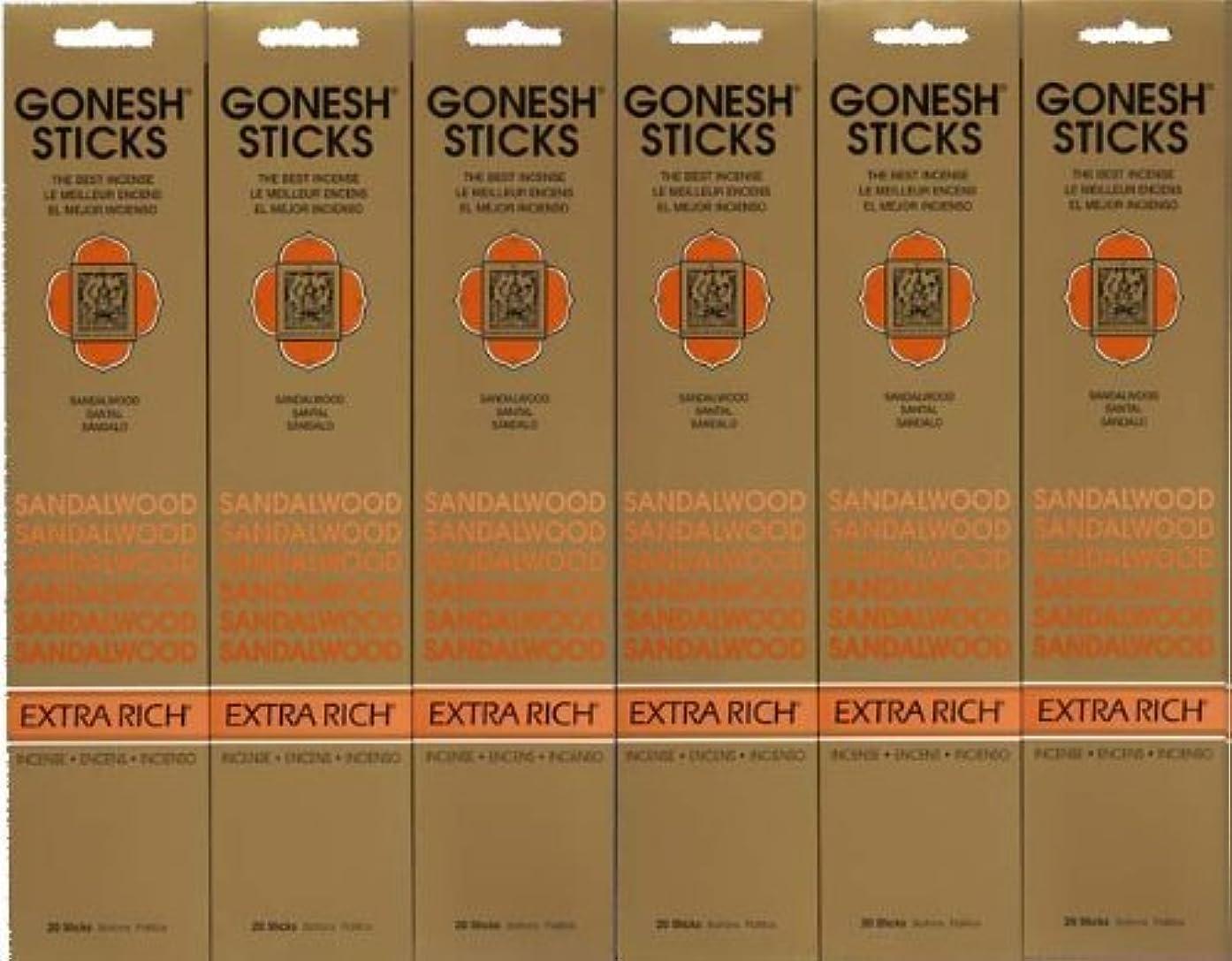クラウド輝く玉GONESH SANDALWOOD サンダルウッド 20本入り X 6パック (120本)