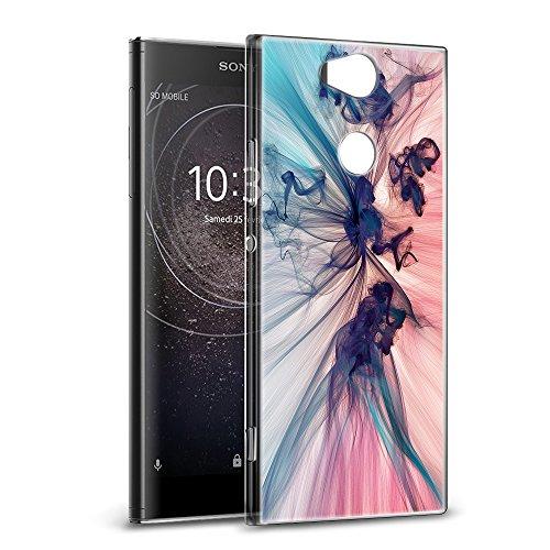 Cover Sony Xperia XA2, Eouine Custodia Cover Silicone Trasparente con Disegni [Ultra Slim] TPU Morbido Antiurto 3D Cartoon Bumper Case Protettiva per Sony Xperia XA2 5.2' Smartphone (Fumo Colorato)