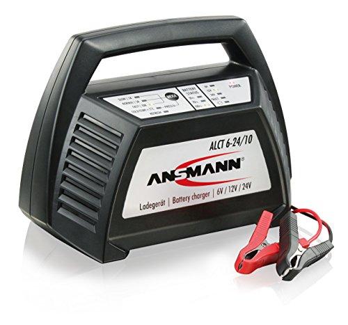 ANSMANN Autobatterie Ladegerät ALCT 6-24/10 - Vollautomatisches Batterieladegerät für Autobatterien & Bleiakkus mit 6V, 12V & 24V / 10A - Erhaltungsladegerät ideal für PKW, Motorrad, Boot etc.