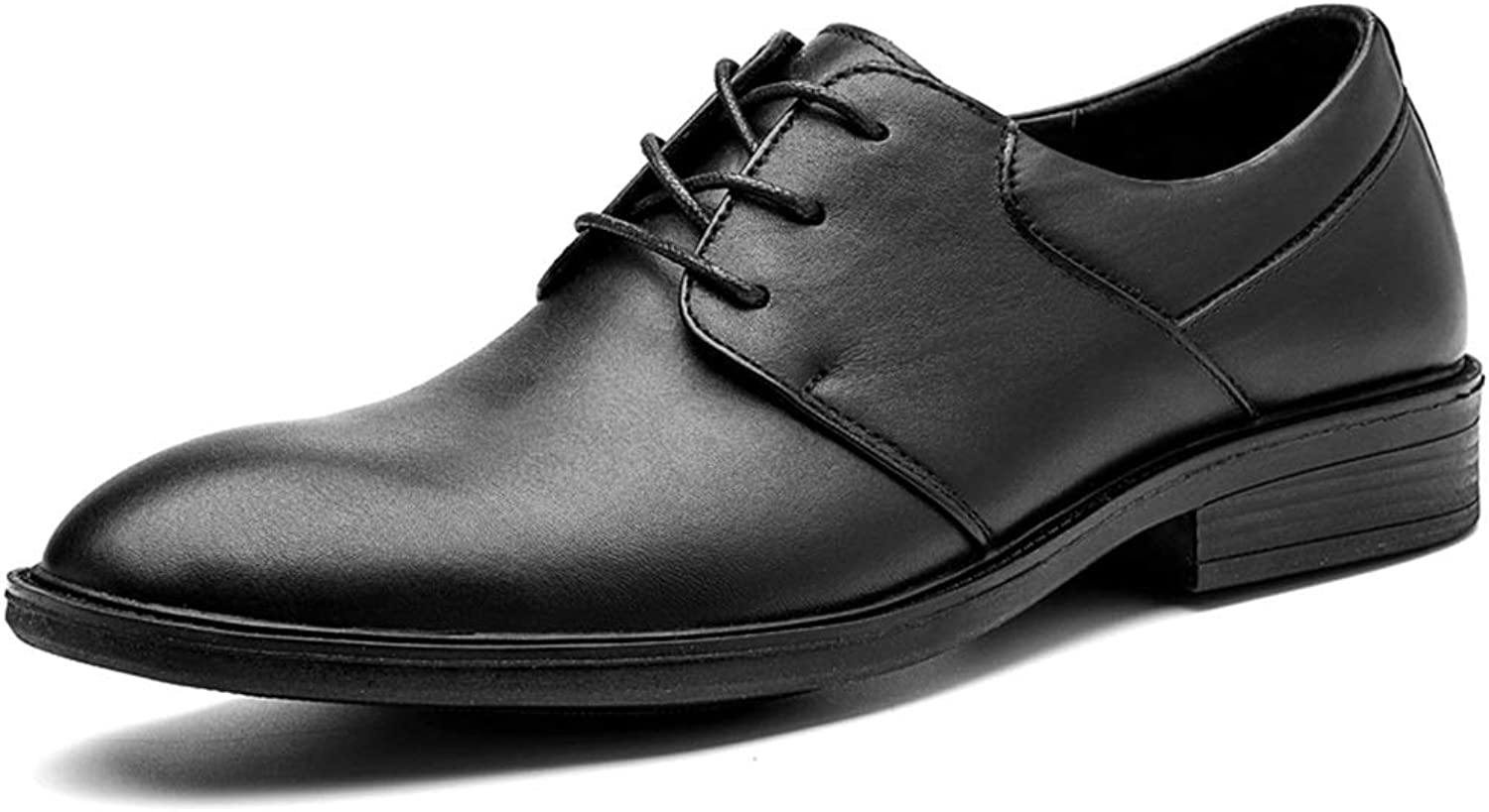 Easy Go Shopping Oxford shoes for Men Formal shoes Lace Up OX Leather Classic Pure color Business shoes Cricket shoes