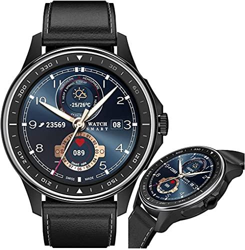 JSL Reloj inteligente con rastreador de actividad de llamada con monitor de sueño, monitor de actividad con pantalla táctil HD de 1 3 pulgadas IP68