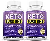 Keto Pure BHB Pills Advanced BHB Ketogenic Supplement Real Exogenous Ketones Ketosis for Men Women 60 Capsules 2 Bottles