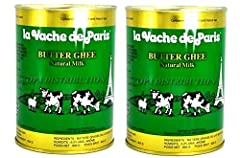 Rich Premium Pure Butter Ghee بقرة باريس سمن حيواني نقي طبيعي ممتاز Use ghee anywhere you'd use cooking oil or butter Lactose and Caisen Free High flash point making ghee a great substitute for oil in high-heat cooking