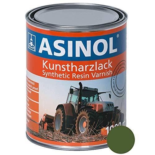 ASINOL KRONE GRÜN 1.000 ml Kunstharzlack Farbe Lack 1l Liter Dose