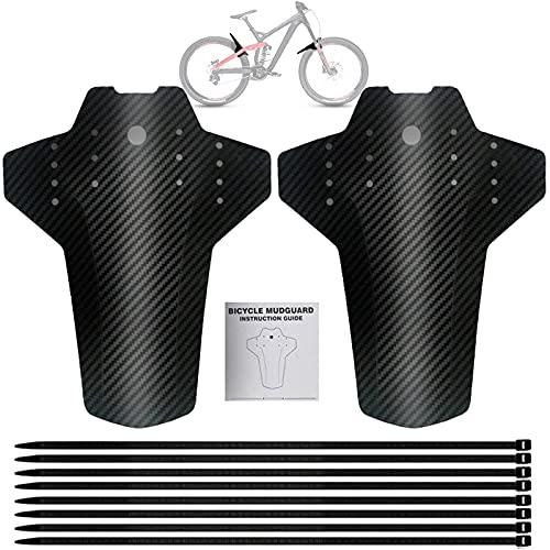 ysister Parafango MTB, Set parafango per Mountain Bike, parafango Anteriore e Posteriore, paraspruzzi Bicicletta, per Bici da Corsa/Bici da Corsa/Mountain Bike