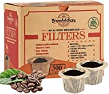 Brew Addicts Disposable K-Cup Filters - 300 Single Serve Unbleached Paper Coffee Filters for Keurig. All-Natural and Biodegradable, Brown