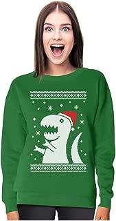 Big Trex Santa Ugly Christmas Sweater - Funny Xmas Women Sweatshirt