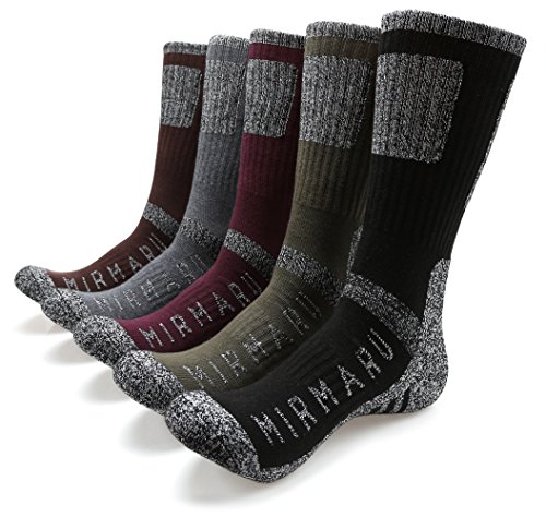 MIRMARU Men's 5 Pairs Multi Performance