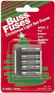 Cooper Bussmann BP-AGX-7X5 5Pk 7A AGX Xmas Fuse, 7 Amp, 0.5