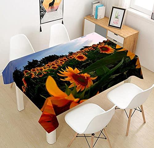Yqgdss Hermosa Flor De Mar Mantel 3D Diseño De Cocina Mesa De Comedor Mesa De Comedor Decoración De Cocina Comedor Familiar Actividades Interiores Al Aire Libre 140x240cm