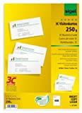 SIGEL LP801 Tarjetas de visita, 3C, 85x55 mm (A4), 250 g, 400 unds.=40 hojas