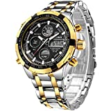 Men's Automatic 18K Gold-Plated Watch Luxury...