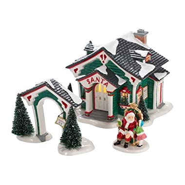 Department 56 Snow Village 2012 Annual Gift Set A Visit with Santa Lit House, 50.59 inch
