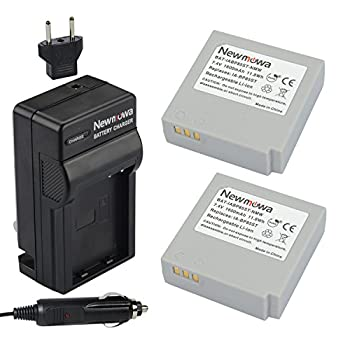 Newmowa IA-BP85ST Replacement Battery  2-Pack  and Charger Kit for Samsung SC-HMX10 SC-HMX10A SC-HMX10C SC-HMX10P SC-HMX20 SC-HMX20C SC-MX10 SC-MX10A SC-MX10P SC-MX10R SC-MX20 SC-MX20B SC-MX20