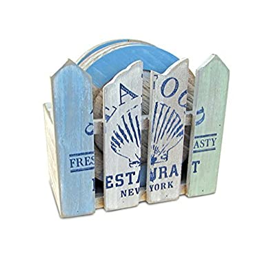 Puzzled Ocean Breeze Coasters Nautical Décor - Beach Theme - Unique Gift and Souvenir - Item #9433