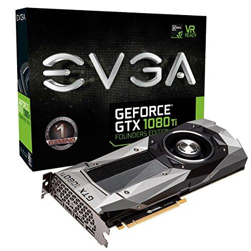 EVGA GeForce GTX 1080 Ti FOUNDERS EDITION GAMING, 11GB GDDR5X, LED, DX12 OSD Unterstützung (PXOC)...
