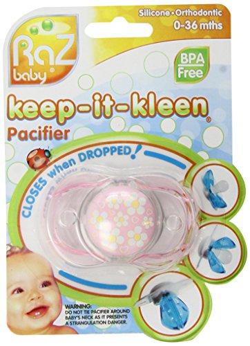 Keep-it-kleen - Ciuccio sempre pulito, con chiusura automatica in caso di caduta, motivi vari