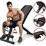 YoleoStore Utility Weight Bench - Adjustable Weight Benches for Full Body Workout, Foldable Flat/Incline/Decline FID Bench Press for Home Gym