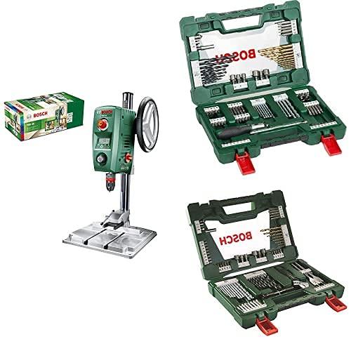 Bosch PBD 40 - Taladro de columna (710 W, caja de cartón) + Maletín V-Line con 91 unidades para taladrar y atornillar + Maletín de 83 unidades para taladrar y atornillar