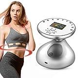 Máquina de belleza RF CV Ultrasound corporal, profesional por ultrasonidos, elimina grasa, masajeador, quema de grasa, elimina la piel y cuida el masaje, color plateado