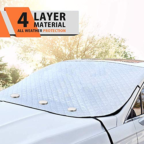 MATCC Car Windshield Sun Shade with Magnetic Edges Blocks UV Rays,Dust,Particle and Heat Reflective...
