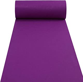 Purple Aisle Runners Wedding Accessories Aisle Runner Carpet Rugs for Step and Repeat Display, Ceremony Parties and Events Indoor or Outdoor Decoration 24 Inch Wide x 30 feet Long