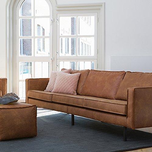 ESTO GmbH 3 Sitzer Sofa Rodeo Echtleder Leder Lounge Couch Garnitur braun